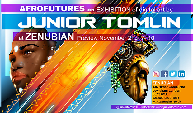 AFROFUTURES Exhibition by Junior Tomlin