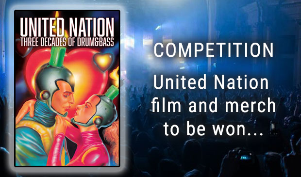 Win United Nation: Three Decades Of Drum And Bass Film and Limited-Edition Merchandise